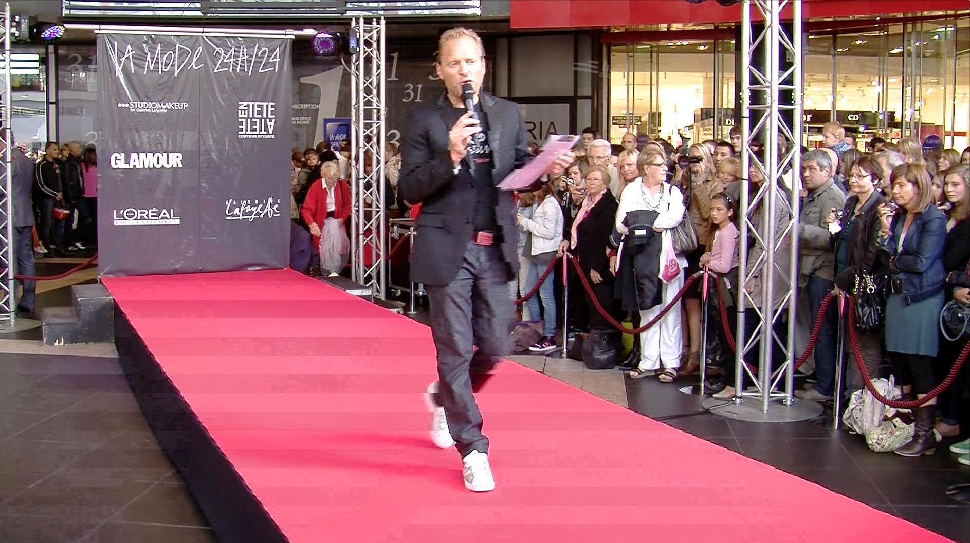 Défilé de mode aux Galeries Lafayette de Lille